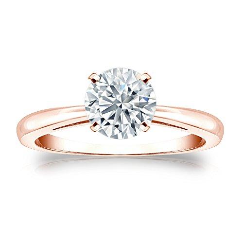 Diamond - 14 Kt Rotgold Rundschliff G-H Weißer Diamant