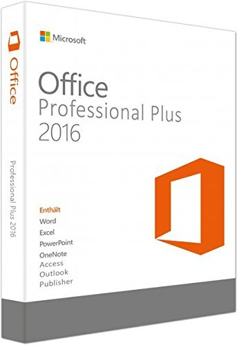 Produktbild Microsoft Office Professional Plus 2016 -für 2 PCs | Multilanguage | für Word, Excel, PowerPoint, OneNote, Outlook, Publisher und Access [License]