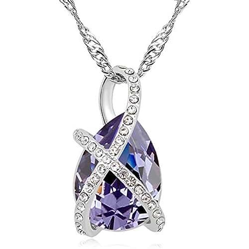 ofertas para el dia de la madre FANSING Joyería dia de la MADRE REGALO original Austriaco Cristal Collares Pendientes Para Mujerses