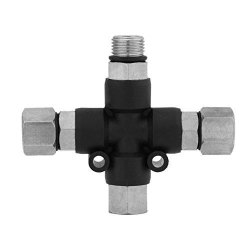 1/8 \'\' Air Splitter Fitting Stecker, multifunktionale 3-Way Airbrush Luftschlauch Verteiler Splitter Tattoo Spray Stecker
