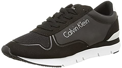 Calvin Klein Jeans Tori Reflex, Sneakers Basses femme, Noir (Bbk), 39 EU