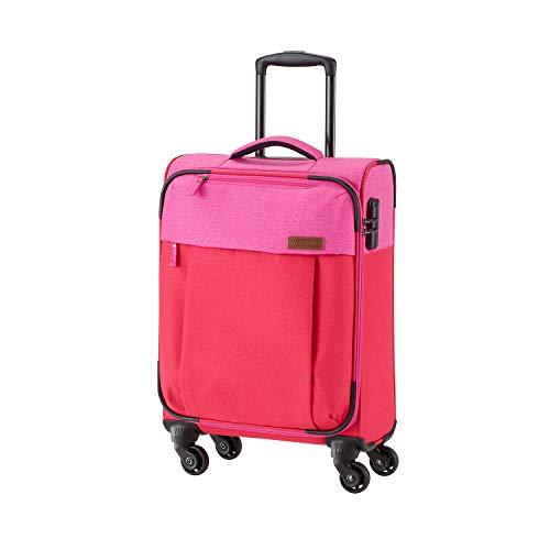 Travelite Leichtes lässiges  Surferlook Trolley Koffer 55 cm, 32 L, Rot/Pink