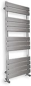 500x1150mm, Anthracite Wentworth Bathrooms Valencia Designer Flat Panel Designer Towel Rail Bathroom Ladder Radiator