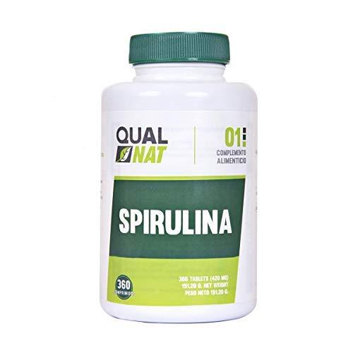 Complemento alimenticio a base de alga espirulina - Spirulina 100% natural con alta cantidad de proteínas vegetales - Ideal para deportistas y apta para veganos y vegetarianos - 360 comprimidos