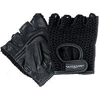 Patterson Medical - Guantes acolchados (tamaño mediano, 1 par, para silla de ruedas o moto), color negro