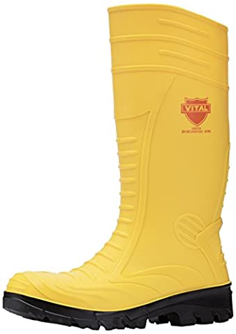 V12 Mens Groundworker S4 Safety Wellingtons VW254/10 Yellow 10 UK, 44 EU