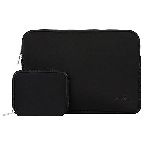 MOSISO Laptop Sleeve, Water Repellent Lycra Cover Case Sac pour 12.9 iPad Pro / 13,3 pouces ordinateur portable / MacBook Air / MacBook Pro avec Small Case pour MacBook Chargeur ou Magic Mouse, Noir