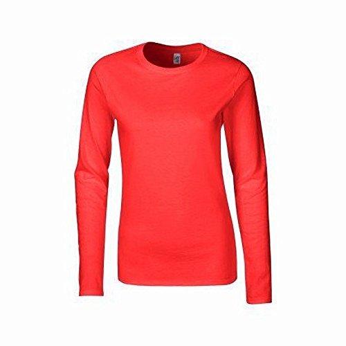 Gildan Damen Langarm T-Shirt / Sweatshirt Weiß
