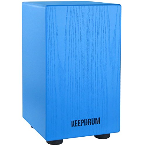 KEEPDRUM DC1M BL Junior Cajon für Kinder Trommelhocker Blau