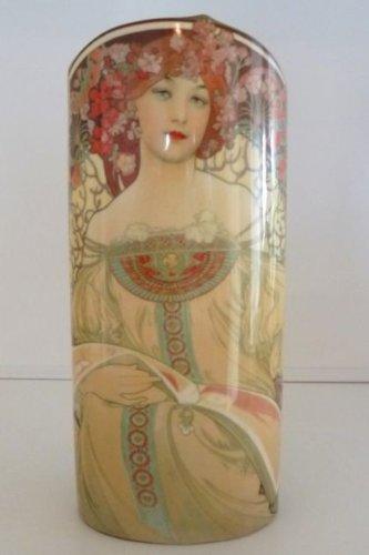John Beswick Mucha Art Nouveau Reverie Art Vase céramique Hauteur 23