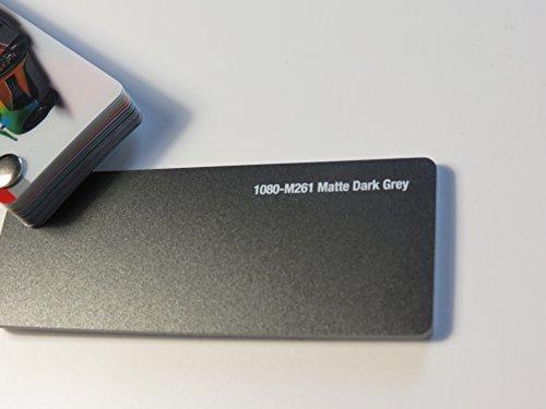 3M Scotchprint Wrap Film Series 1080 Matt Dunkel Grau gegossene Autofolie 1000 x 152 cm Zuschnitt