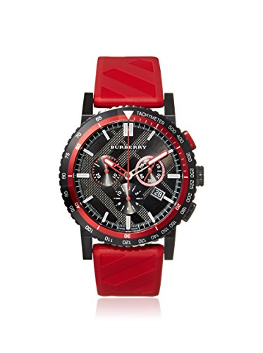 Burberry BU9805 – Watch For Men, Rubber Strap Red
