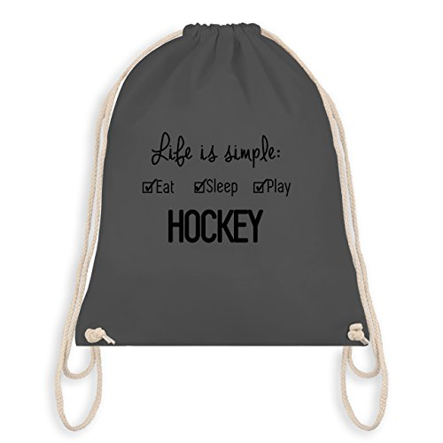 Shirtracer Eishockey - Life is simple Hockey - Unisize - Dunkelgrau - WM110 - Turnbeutel & Gym Bag