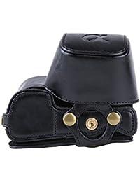 PDXD-share Caja protectora de la cámara de la PU-bolsa de cuero para Sony  Alpha A6000 A6300 cámara con lente 16… c656013662ced
