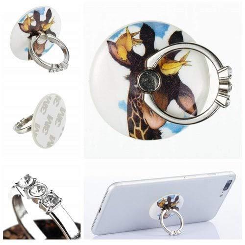 RanDal Telefon-Fingerringhalter-Schreibtisch-Tablet-Ständer 360 Grad-Aufkleber Auf Geräten Little Fawn