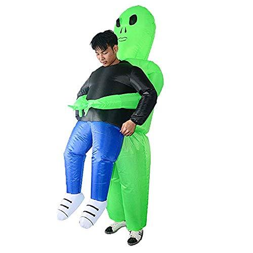 Fähige Kostüme/aufblasbare Blow Up Ganzkörperanzug Jumpsuit Kostüm/Grüne Geister Umarmung Menschen Up Kostüm Schnitter Halloween Fancy für Erwachsene und Kinder