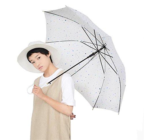 Leichte Faltbare Kleine Frische Frau Student Spazierstock Regenschirm Windproof Anti-UV-Tourismus Sonnenschirm Sonnenschirme Rutschfeste Griff - Weiß (Frau-eisen Einfach - Eine)