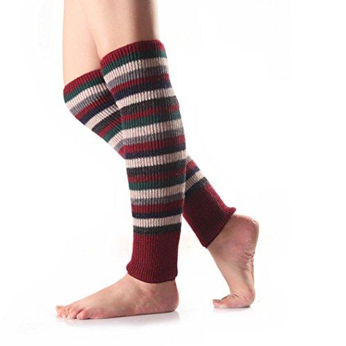 Hunpta Frauen lange Stiefel Socken stricken häkeln hohe Knie Beinlinge Legging Strumpf (Knie Socken Stiefel Hohe Für)