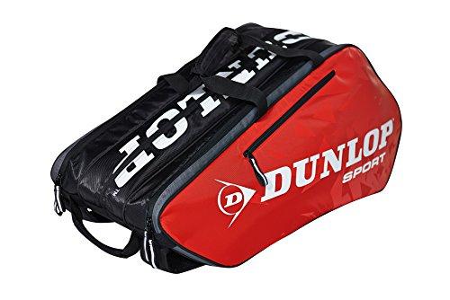 Dunlop Herren Tasche (Dunlop Schlägertaschen Tour 10 Racket Bag Tennistasche, Rot, 75 x 34 x 42 cm, 1 Liter)