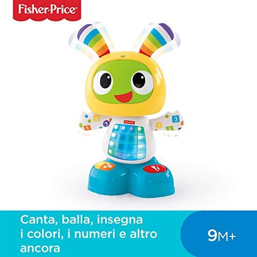 Fisher-Price Robottino Ballerino, Piccolo Giocattolo per Lo Sviluppo dei Bambini 9-36 Mesi, CGV49