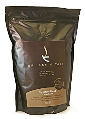 Spiller & Tait Signature Blend - Coffee Beans 500g Bag - Best Speciality Coffee Roasted in the UK - Award Winning - Gourmet Beans for Great Tasting Coffee at Home - Espresso Blend Suitable for All Coffee Machines - Premium Arabica Beans from Spiller & Tai