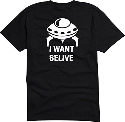 Black Dragon - T-Shirt Herren - JDM / Die cut - I want to believe UFO Schwarz