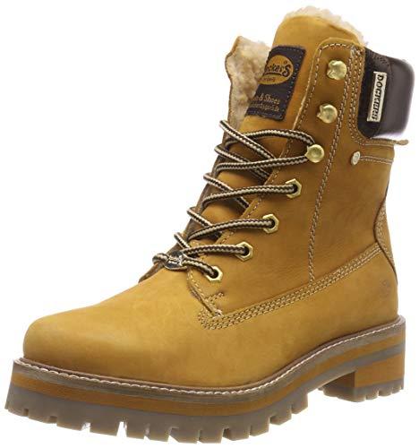 Dockers by Gerli 43hn301, Botas Militar para Mujer, Amarillo (Golden Tan 910), 38 EU