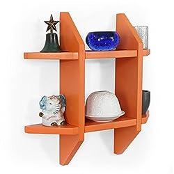 Forzza Aldo Wall Shelf (Matt Finish, Orange)