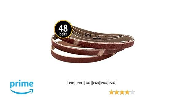 24 B 13x457 mm gemischtes Bandschleifpapier Schleifband Schleifbänder Korund