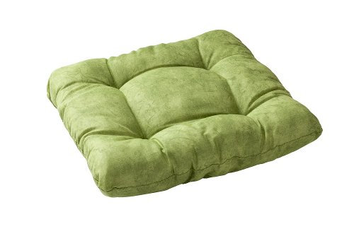Stuhlkissen Sitzkissen Kissen 40x40x8cm Marmoriert (grün)