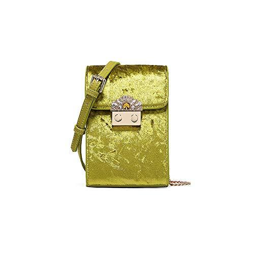 Handytasche Herbst und Winter Neue Damen Tasche Kette Schulter Kette Mini Bag (Farbe : Green, größe : 11.5 * 4.5 * 16CM)