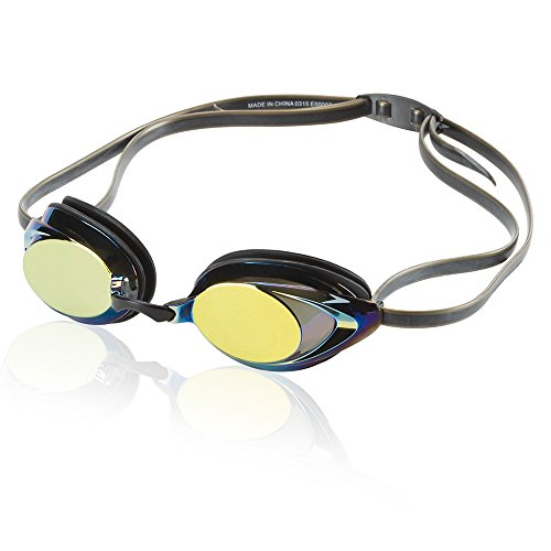 Speedo Vanquisher 2.0 Mirrored Swim-Swimming Racing Goggles-Gold Anti-Fog New (Racing-schutzbrillen Speedo)