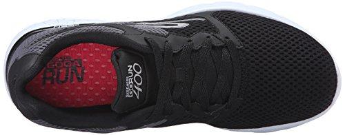 Skechers Go Run 400 Toile Chaussure de Course Noir (Bkw)