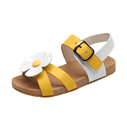 Sandals Kids,Ba Zha  Summer Toddler Kids Baby Girls Sandals Flowers Roman Sandals Princess Shoes Single Shoes Anti-Slip Sneakers Summer Sandals Newborn Beachwear Flats Sandals 1-6 Years Old