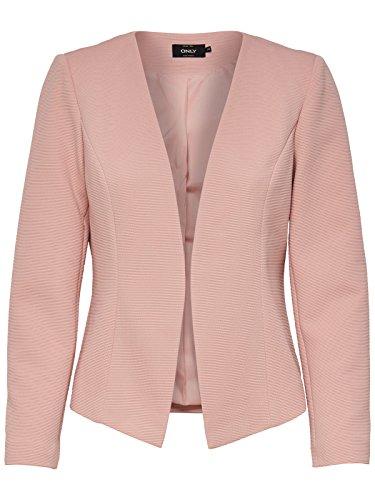 ONLY Damen Anzugjacke Onlanna Short Blazer Noos Tlr, Rosa (Rose Smoke Rose Smoke), 38