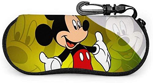 Brillenetui, Mickey Mouse Tragbares Reiseset mit Reißverschluss, Sonnenbrillenetui, Lesebrillenetui, Schutzset