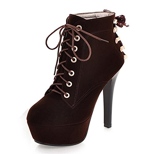 Sintético Stiletto Vermelho Senhoras Ankle Boot Calcanhar 18qgEIxw