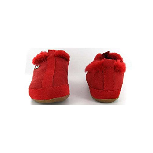 Chaussons cuir femme North Pole Rouge