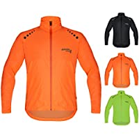 Brisk Bike Ultra-light all weather waterproof sports rain jacket for cycling, training rain wear bicycling sailing , boating surfing parasailing, rowing, jacket beach running jacket wind stopper.