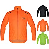 Brisk Bike Ultra-light all weather waterproof sports rain jacket for cycling, training rain wear bicycling sailing , boating surfing parasailing, rowing, jacket beach running jacket wind stopper. (Orange, Large)