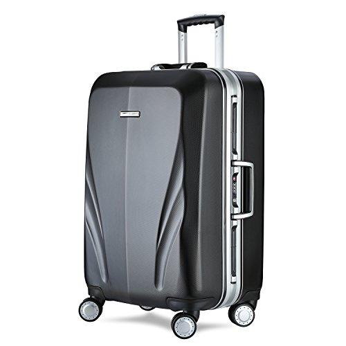 UNITRAVEL Koffer Polycarbonat Leicht 76 Zentimeter 116 Liter 4 Räder Schwarz TSA Schloss