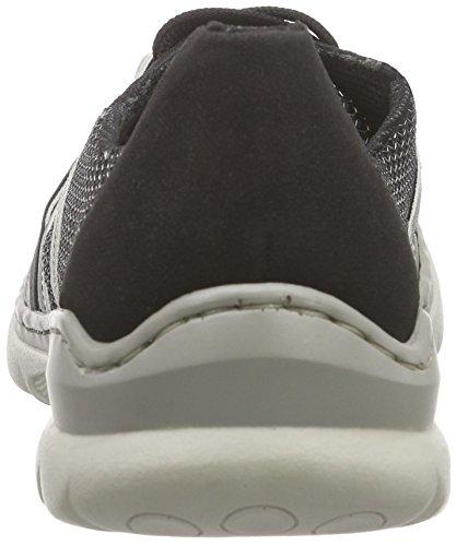 Rieker L3211 Women Low-top, Baskets Basses femme Noir - Schwarz (schwarz/schwarz/shark/silver / 00)