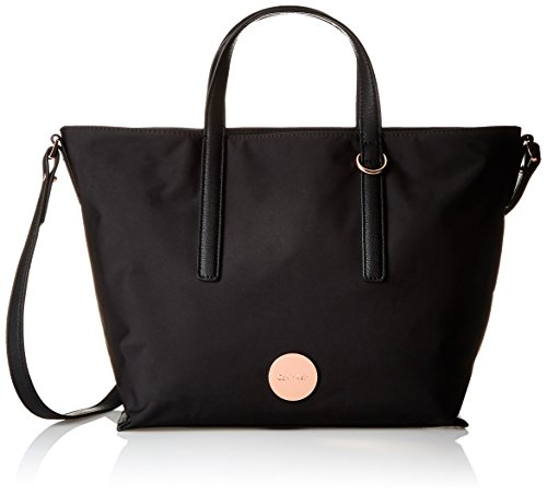Calvin Klein Damen Ed1th Small Tote, 12 x 26 x 42 cm Black