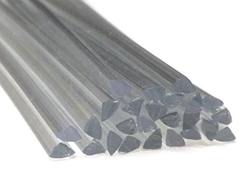 Preisvergleich Produktbild Kunststoffschweißdraht PET-G 6mm Dreikant Transparent 25 Stäbe