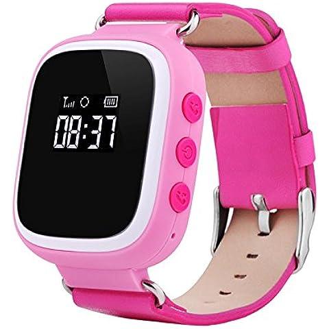 Smartwatch Posicionamiento del reloj niño smart talk teléfonos ver una llave tarjeta SOS inteligente ver , pink