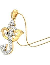 PC Jeweller The Ganesha-Eliora 18KT Yellow Gold & Diamond Pendant