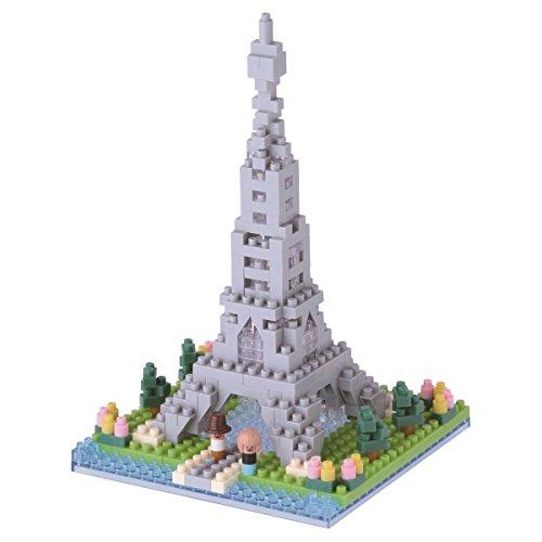 Unbekannt nanoblock NBH-097 -  Eiffelturm 2, Minibaustein 3D-Puzzle, Sights to See Serie, 310 Teile, Schwierigkeitsstufe 2, mittel -