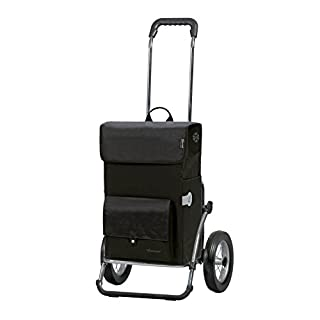 Andersen Shopping trolley Royal with bag Asta black, volume 45L, thermal bag, steel frame and metal-spoked wheels
