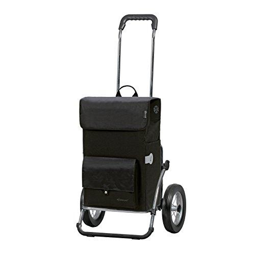 Sondermodell Andersen Einkaufstrolley Royal & Einkaufstasche Asta schwarz mit Kühlfach | Einkaufswagen mit großen Rädern | Trolley Gestell Stahl klappbar