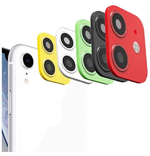 Tomcrazy Anwendbar für iPhone XR Xs MAX X Seconds Change for iPhone 11 PRO MAX Kamera Lens Cover Sticker Metall Glas Schutz, Rot für XR